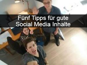 Fünf Tipps für Social Media