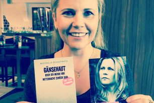 Gänsehaut-Autogramm-Karte für Michaela Schaffrath