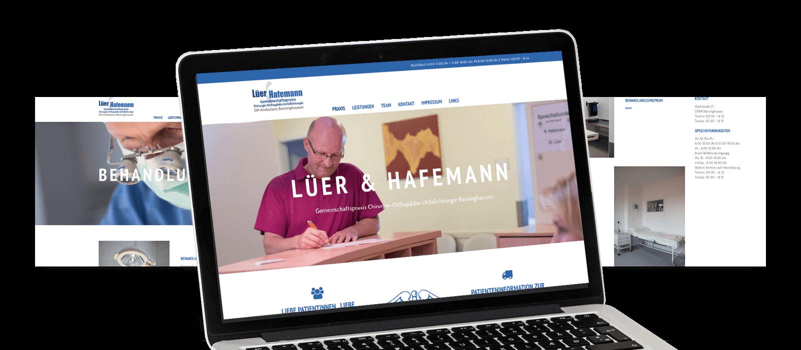 Agentur Goldkind Referenz Webdesign Lüer & Hafemann